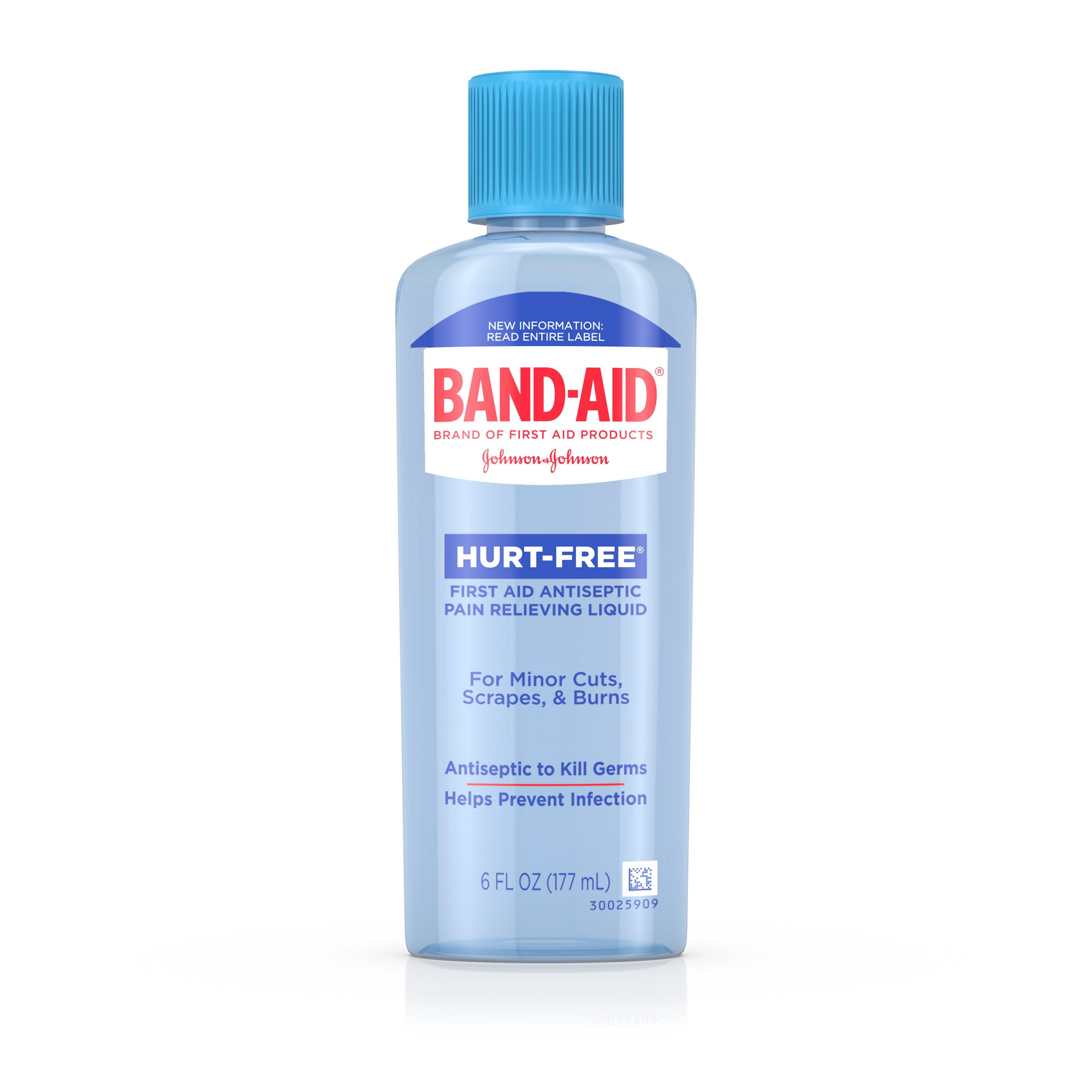 Band Aid Brand First Aid Hurt Free Antiseptic Wash Treatment 6 Fl
