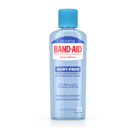 (2 pack) Band Aid Brand First Aid Hurt-Free Antiseptic Wash Treatment, 6 fl. (First Aid Treatment)