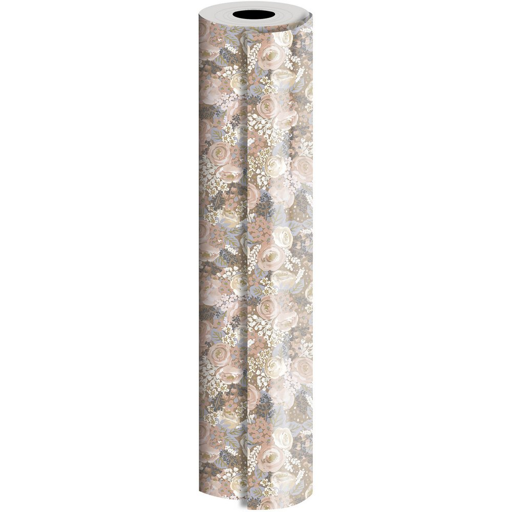 JAM Paper Industrial Size Bulk Wrapping Paper Rolls, Bouquet Design, 1/4 Ream (416 Sq Ft), Sold Individually