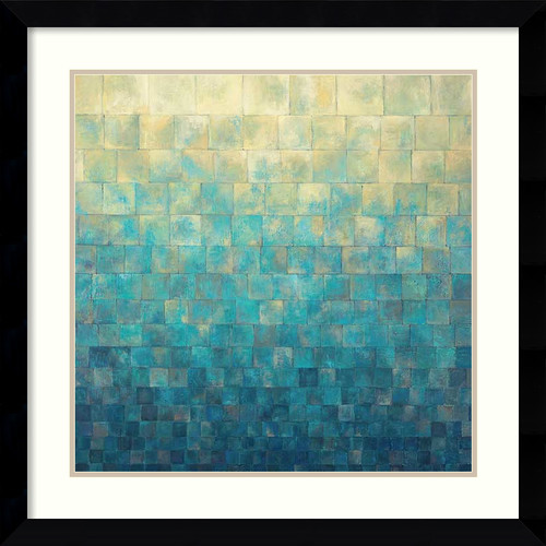 Amanti Art 'Cascade' by Janelle Kroner Framed Painting Print by Amanti Art