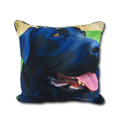 Black Lab Throw Pillow : Robert McClintock Handsome Black Lab Decorative Throw Pillow 18in. - Walmart.com