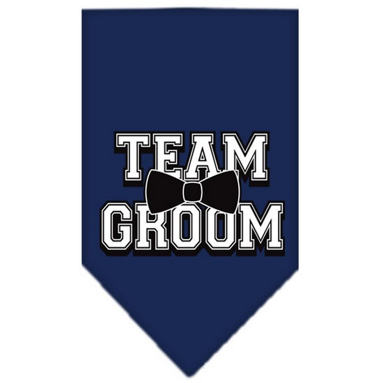 Team Groom Screen Print Bandana Navy Blue large