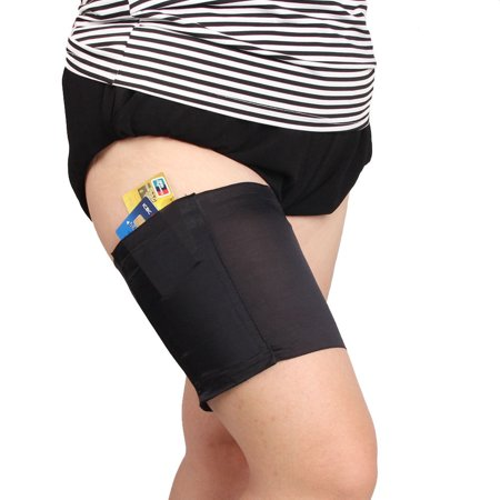 Women Fashion Pocket Elastic Anti-Chafing Thigh Bands Prevent Thigh Chafing