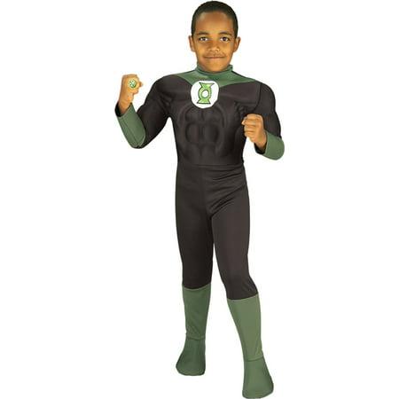 Morris Costumes Mens Green Lantern Large Child, Style RU82391LG