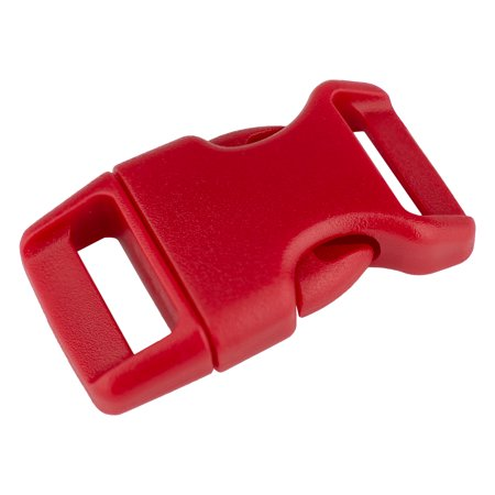 5/8 Inch Red Contoured Side Release Plastic Buckle (Contoured 3/4 Plastic Buckles)