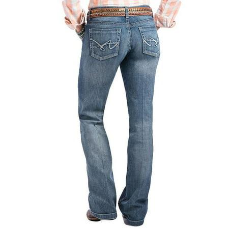 (Cruel Girl Womens Jayley Medium Wash Trouser Jeans)