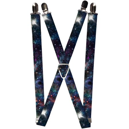Size one size Elastic Galaxy Collage Print Clip End Suspenders](Zebra Print Suspenders)