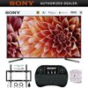 Sony 85  4K Ultra HD Smart LED TV 2018 Model + Wireless Keyboard + Mount Bundle E20SNXBR85X900F XBR85X900F 85-Inch 4K Ultra HD Smart LED TV (2018 Model)AC Power CordBatteriesIR BlasterOperating InstructionsQuick Setup GuideTable Top StandVoice Remote ControlBundle Includes:Sony XBR85X900F 85-Inch 4K Ultra HD Smart LED TV 2018 ModelDeco Gear 2.4GHz Wireless Backlit Keyboard Smart Remote with Touchpad MouseStanley SurgePro 6 NT 750 Joule 6-Outlet Surge Adapter with Night LightDeco Mount Flat Wall Mount Kit Ultimate Bundle for 45-90 inch TVs85 class (84.5 diag.) Bravia 4K HDR Ultra HD TVArmed with a stunning array of technologies like the X1 Extreme Processor, X-Tended Dynamic Range PRO, and X-Motion Clarity, the Sony X900F 4K HDR TV displays an awe-inspiring 4K HDR picture with stunning clarity, contrast, and color. It's more than just a TV - It's what 4K HDR TVs aspire to be. Product Highlights: Full Array backlight with local dimming for more precise dynamic rangeEverything you watch looks like 4K HDR with the X1 Extreme processor and 4K X-Reality PROX-tended Dynamic Range PRO 6X contrast range provides a wider range of brightness4K HDR, - HDR10, HLG and Dolby Vision for incredible detail and clarityEnjoy smooth and vibrant colors with TRILUMINOS Display and 4K HDR Super Bit MappingOn-screen action and motion look better than ever with X-Motion Clarity technologyAndroid TV with Assistant technology gives you a genius TVA TV with premium aesthetics: Slice of living design with cable managementCompatible with Home and for an even smarter homeLive TV Streaming, no annual contract with PlayStation VueDownload your favorite content, shopping, and gaming Apps from Play Product Features: Uncover the Detail with 4K HDR: High Dynamic Range (HDR) will change the way you look at TV. Combined with 4K Ultra HD resolution, HDR video content delivers exceptional detail, color and contrast, with a far wider range of brightness than other video formats. The result is the most lifelike picture TVs have ever been able to create, with brilliant highlights and fine detail.Everything Should Look Like 4K HDR: Our newly developed 4K HDR Processor X1 Extreme outperforms our conventional 4K Processor X1 with 40 percent more real-time image processing power. It takes everything you watch and improves it to near 4K HDR quality. Object-based HDR Remaster technology can detect, analyze and optimize each object in the picture individually to adjust the overall contrast for a more natural and realistic picture on screen.Full-Array Local Dimming: With our full-array local dimming technology, you get enhanced contrast and incredible brightness in a stunningly slim design. Add in X-tended Dynamic Range PRO 6x and enjoy six times the contrast range of a conventional LED-edge lit TV by accurately balancing the light output across the screen.Vibrant Colors, Smooth Gradations: Colors are as rich and vivid as nature's own thanks to the TRILUMINOS Display with more shades of red, green and blue than ever before. You'll enjoy rich, authen