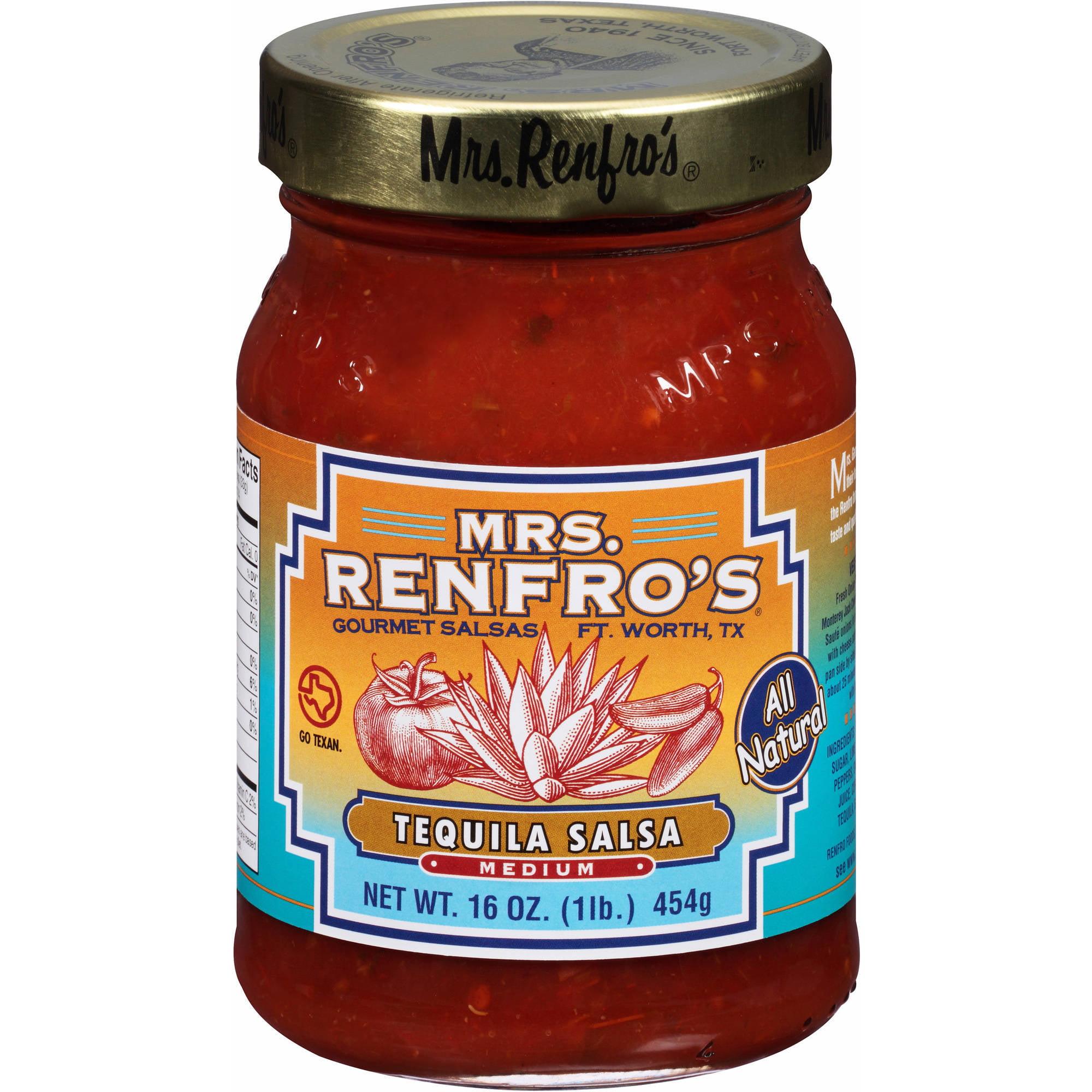 Mrs. Renfro's Gourmet Medium Tequila Salsa, 16 oz