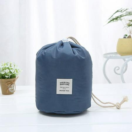 Fancyleo New Arrival Barrel Shaped Water Proof Bag Travel Makeup   Storage Bag (The Best Makeup Bag)