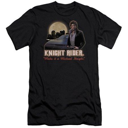 Knight Rider Full Moon Mens Slim Fit Shirt