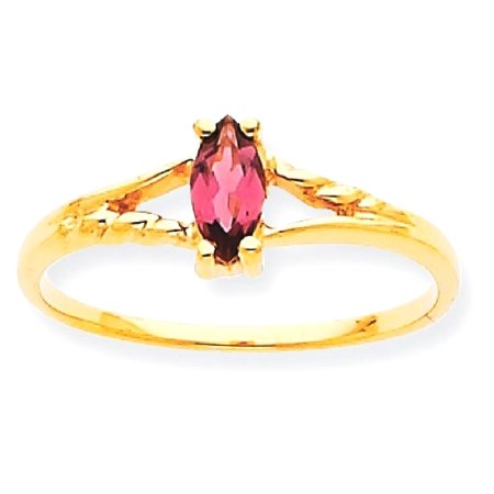 (ICE CARATS 10kt Yellow Gold Pink Tourmaline Birthstone Band Ring Size 7.00 Stone October Marquise Fine Jewelry Ideal Gifts For Women Gift Set From Heart)