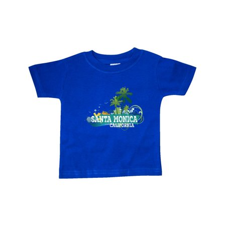 Santa Monica California CA Beach City Travel Baby T-Shirt (Party City Santa Monica)