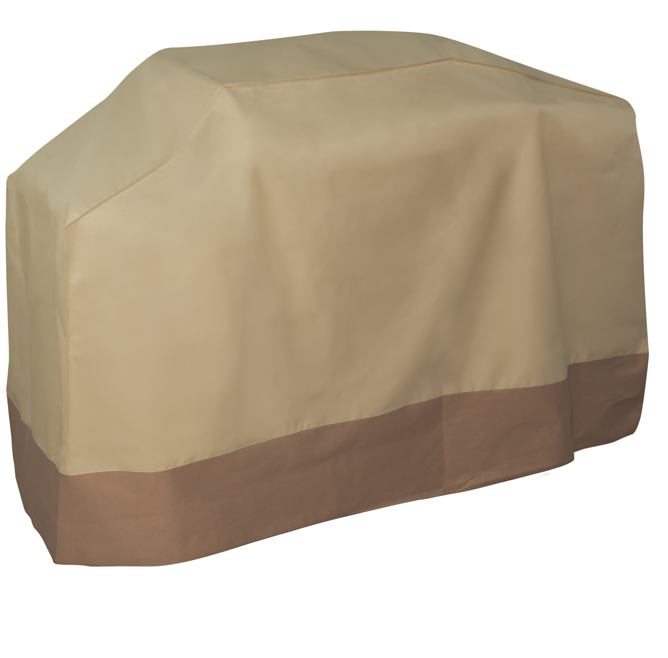 OxGord Water-Proof Grill Cover, Heavy-Duty BBQ Gas Charboil Garden Patio Protector Rain/Water Proof Large, Brown