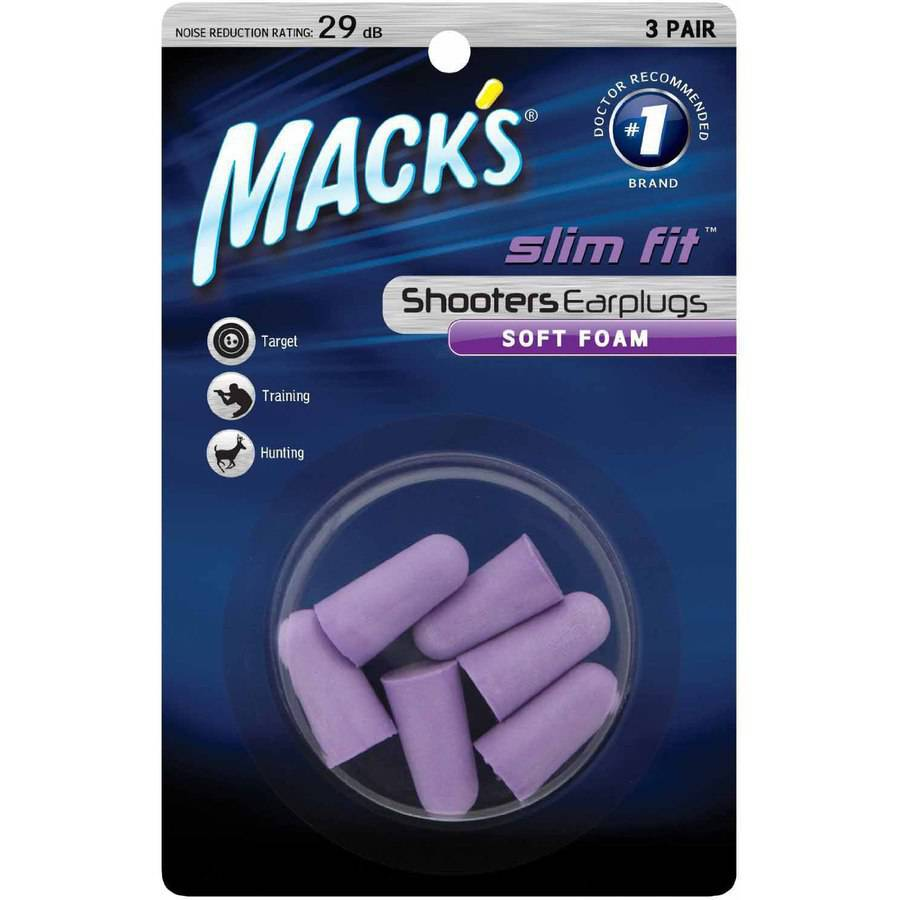 Mack's Shooters Slim Fit Foam Earplugs, 3 Pair