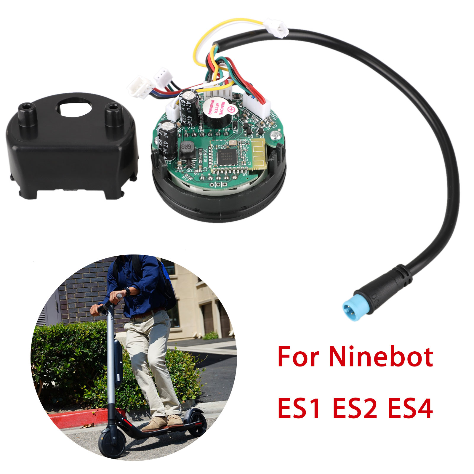 TSV Dashboard Switch On-Off Assembly Circuit Board Replacement compatible  with Ninebot ES1 ES2 ES4 Foldable Electric Scooter