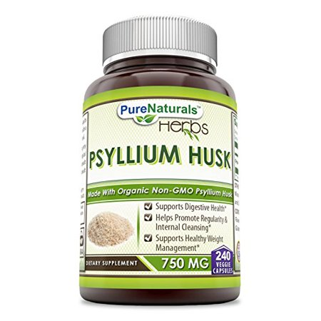 Pure Naturals Whole Husk Psyllium - 750 mg 240 Capsules 750 Mg 240 Capsules