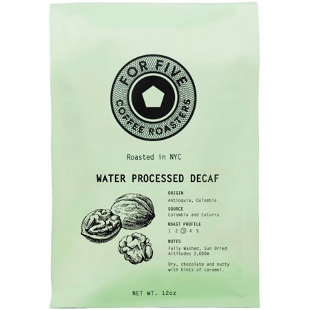 For Five Coffee Roasters Water Processed Decaf Ground 12 oz