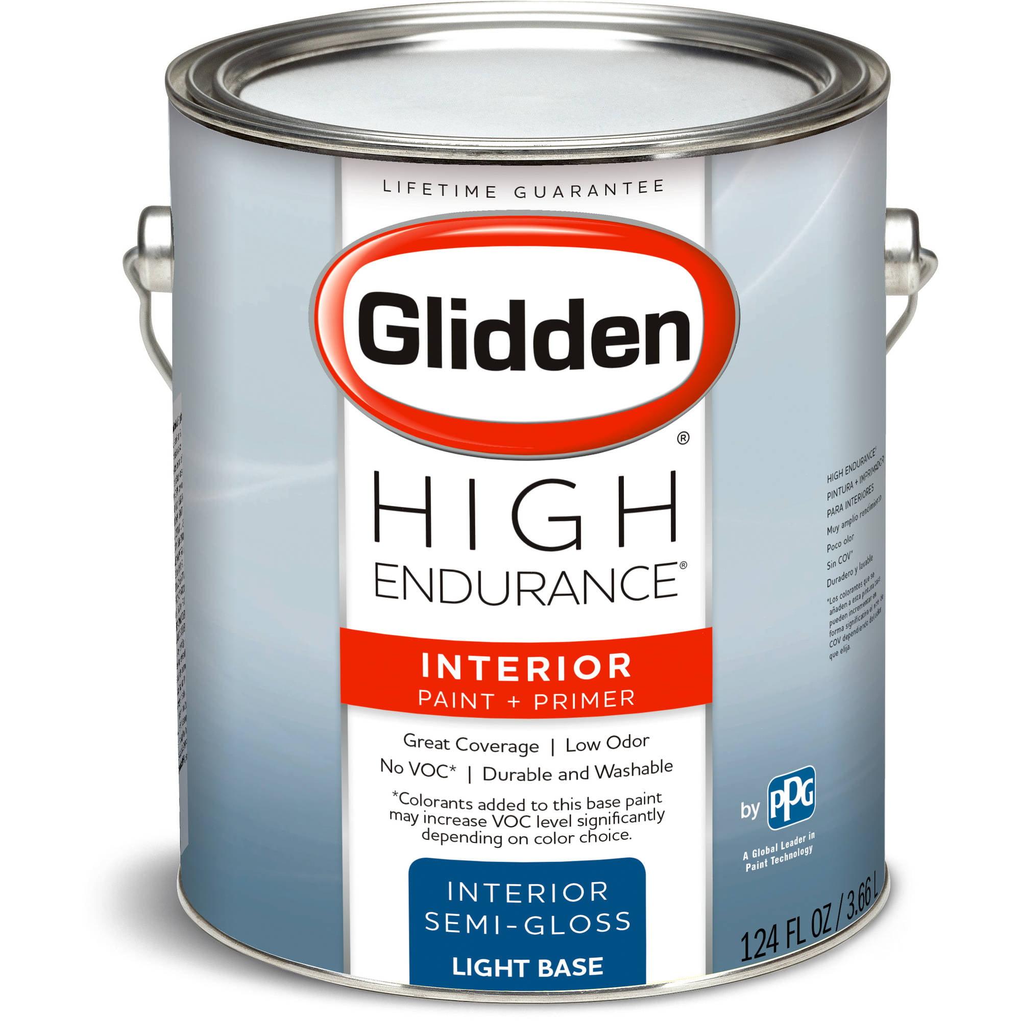 High Endurance Light Base Semi Gloss Interior Paint, 1-Gallon ...