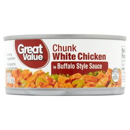 - (3 Pack) Great Value Buffalo Style Chunk White Chicken, 10 oz