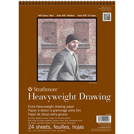 400 Series Heavyweight Drawing Pad, Medium Surface, 14