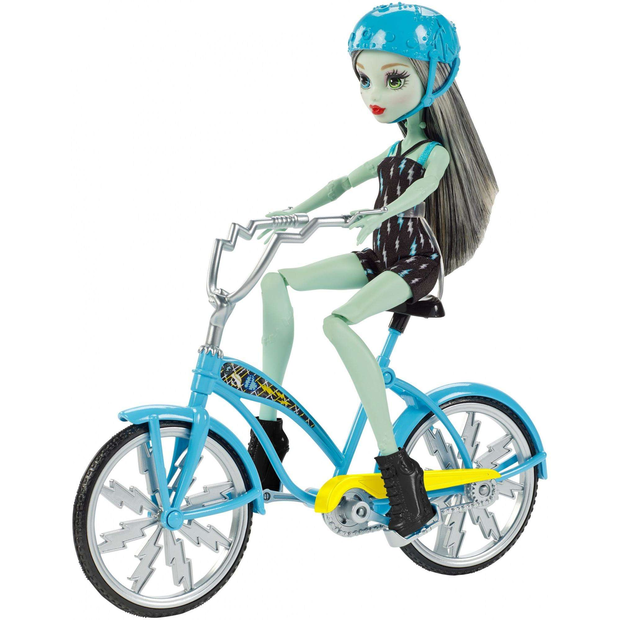 Monster High Boltin' Bicycle Frankie Stein Doll & Vehicle by Mattel