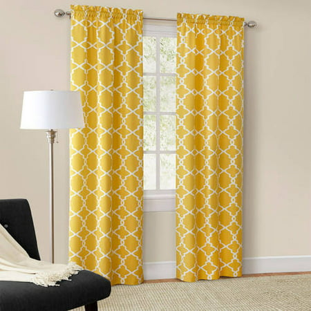Mainstays Calix Fashion Window Curtain, Set of 2 - Walmart.com