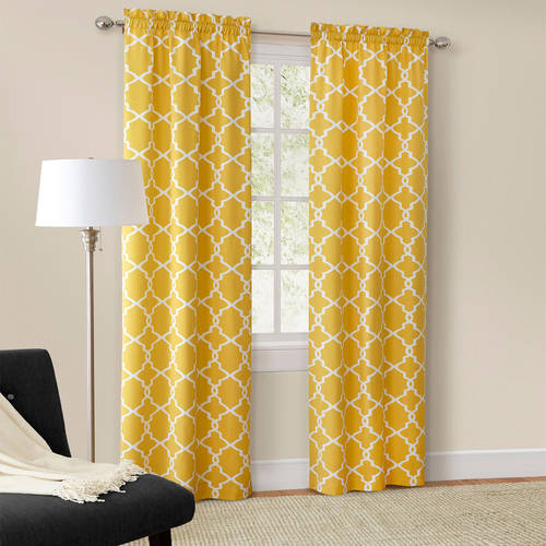 Mainstays Calix Fashion Window Curtain, Set of 2