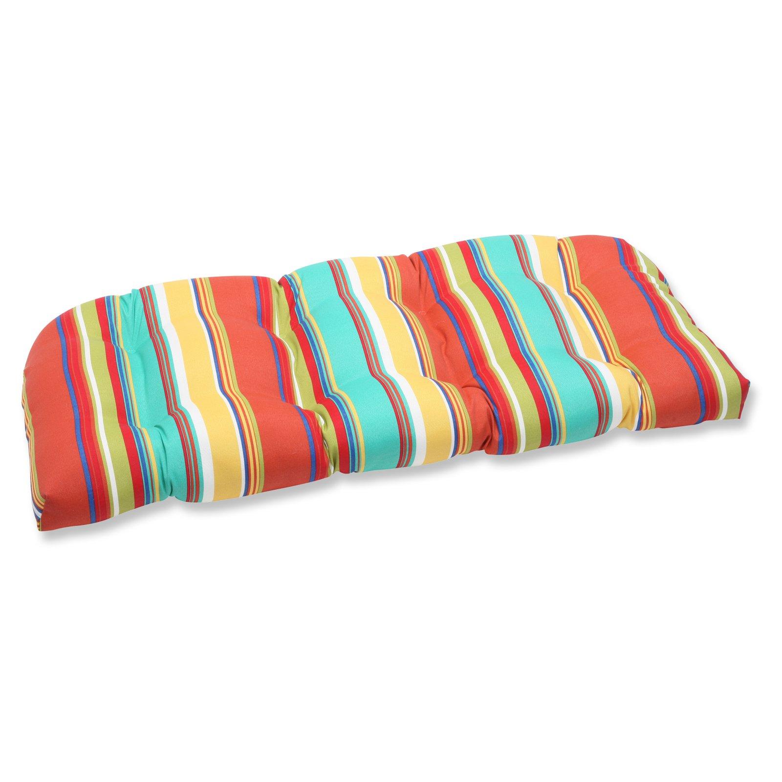 Pillow Perfect Outdoor/ Indoor Westport Spring Wicker Loveseat Cushion