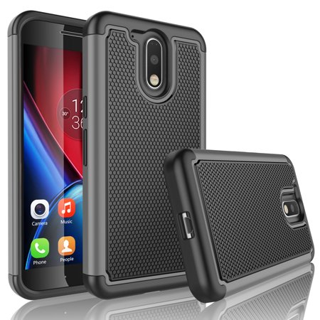 huge discount ecaec 7d397 Moto G4 Case, Moto G4 Plus Case, Tekcoo [Tmajor Series] Shock Absorbing  Hybrid Rubber Plastic Impact Defender Rugged Slim Hard Case Cover For  Motorola ...