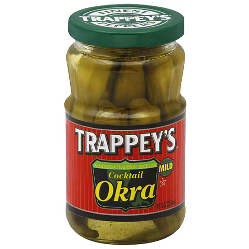 Trappey's Mild Cocktail Okra, 12 fl oz, (Pack of 6)
