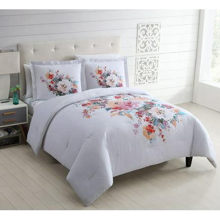 Better Homes & Gardens Watercolor Bouquet 3 Piece Comforter Set, King ()