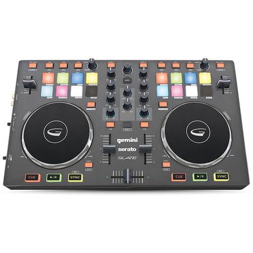 Gemini SLATE 2-Channel Serato DJ Intro Controller by Gemini