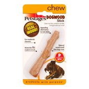 Dogwood Durable Real Wood Dog Chew Toy for Medium Dogs, Safe and Durable Chew Toy by Petstages, Medium