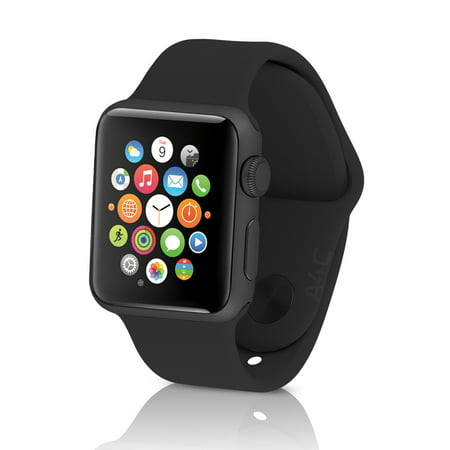 Apple Watch Sport 38mm Gray Aluminum Case W' Black Sport Band (Refurbished)