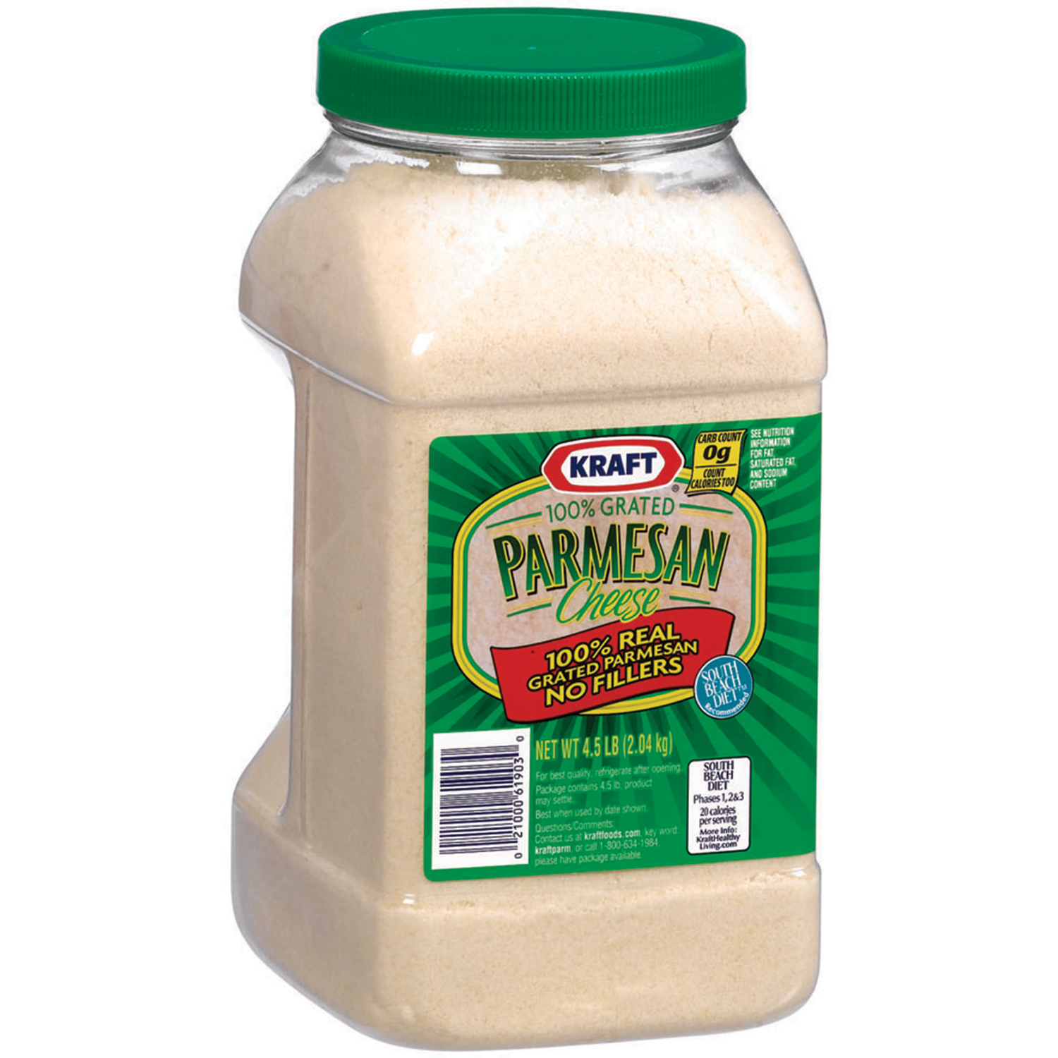 Kraft 100% Grated Parmesan Cheese 4.5 lb. Jar