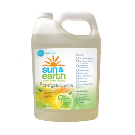 Natural Concentrated Floor Cleaner - Light Citrus Scent - Non-Toxic, Plant-Based Cleaner For Hard Surfaces & Carpets - 128 Fluid Ounce Bottle (1)