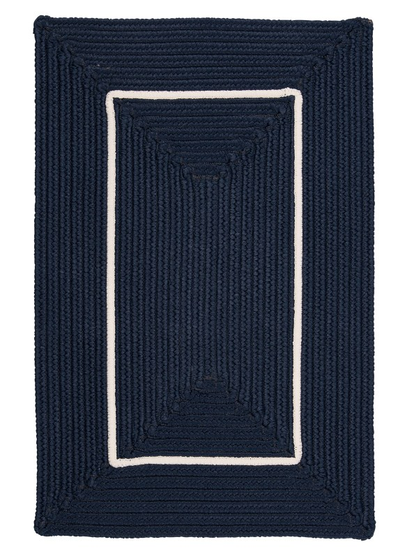 Colonial Mills Doodle Edge Braided Blue Area Rug 2x3