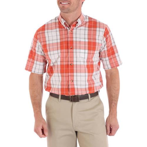 Men's Advanced Comfort Short Sleeve Casual Button Down shirt