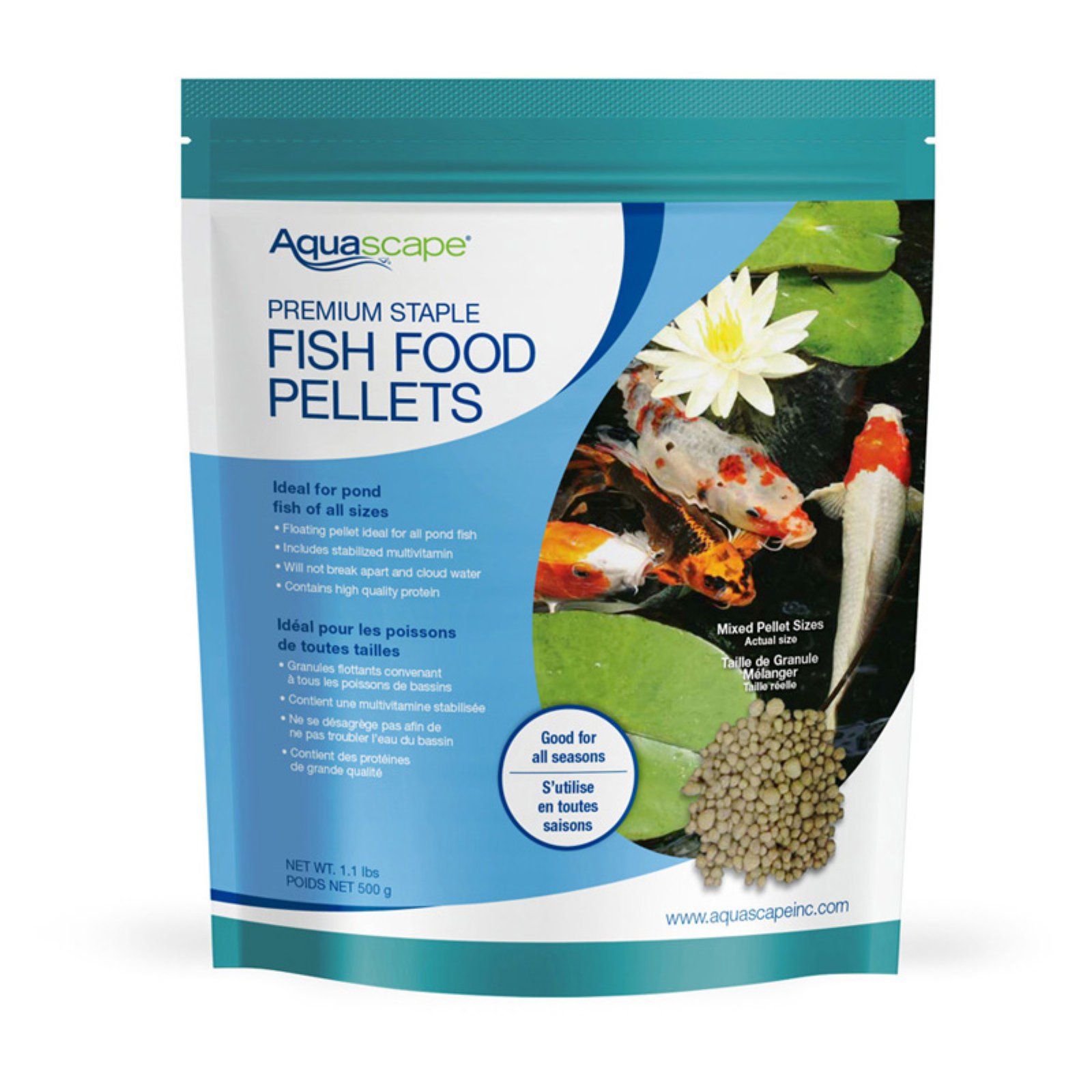 Aquascape Premium Staple Fish Food Mixed Pellets by Aquascape