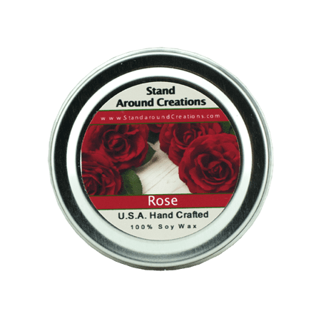 ROSE TIN 4-OZ. ALL NATURAL SOY CANDLE