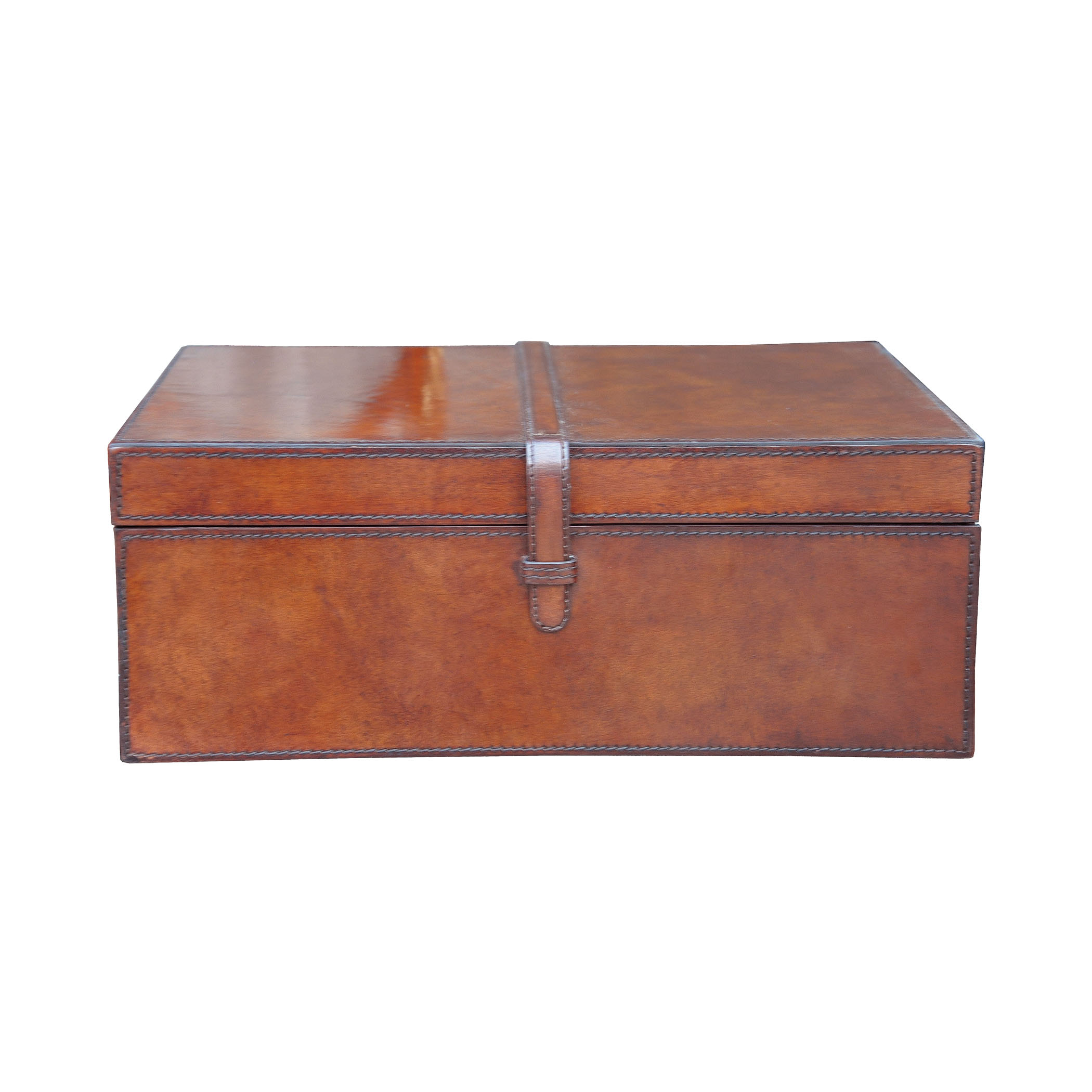 Elk Lighting Guild Master Large Stitched Leather Box 8819...