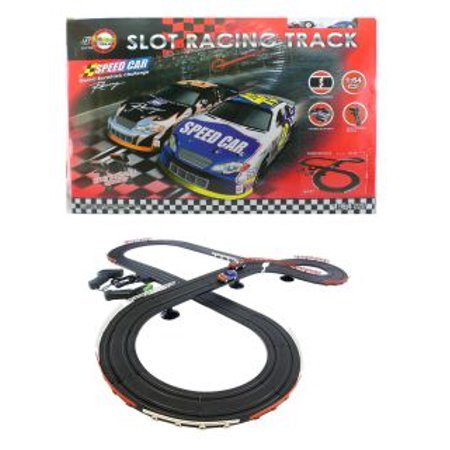 Nascar Style Slot Car Track Ho Scale Race Set New And Improved 2017