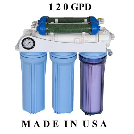 Koolermax AR-122 6-stage 120GPD Reverse Osmosis RO + DI water filter system for Aquarium, humidifier, ultrapure water Aquarium Reverse Osmosis System