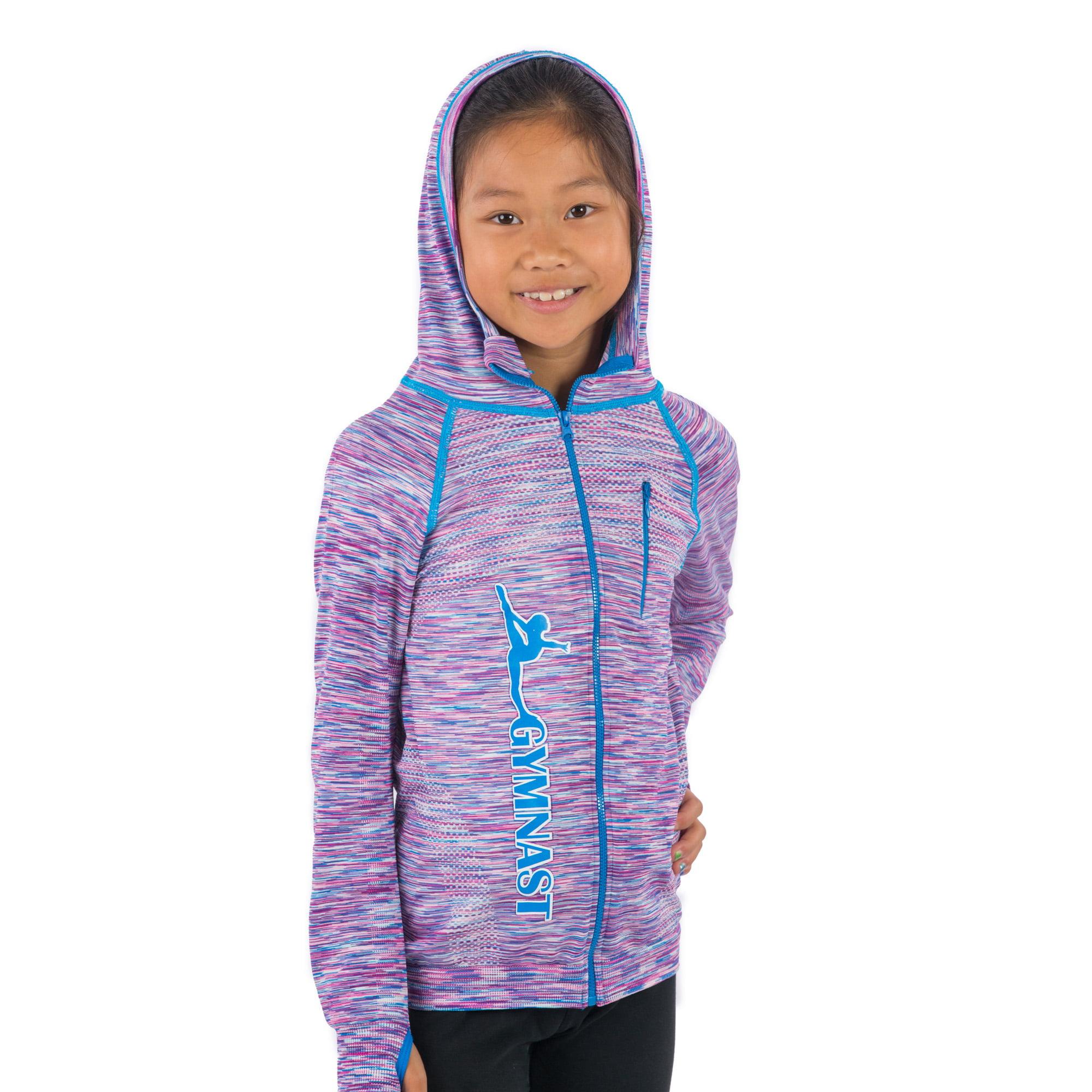 cdfaff767 Lizatards - Lizatards Gymnast Stretch Hoodie Space Dye Jacket Girls ...
