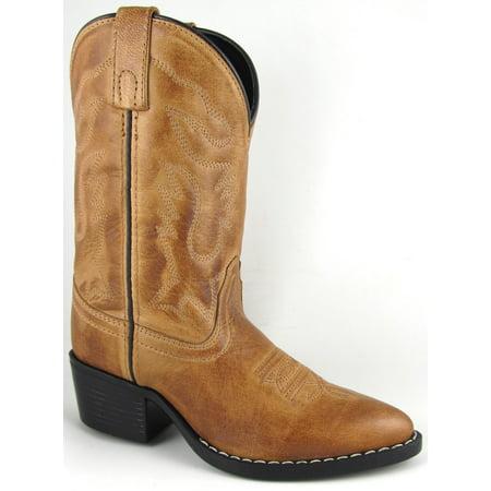 Smoky Mountain Boots Children Boys Dakota Bomber Tan Leather Western 9 D Boys Tan Leather