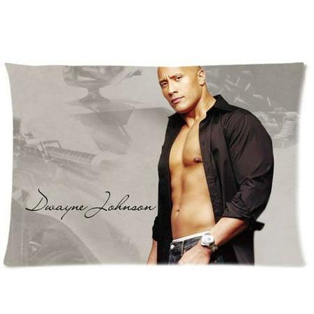 DEYOU Dwayne Johnson Pillowcase Pillow Case Cover Two Sides Printing Size 20x30 inch - Dwayne Johnson Halloween