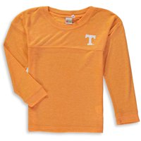 Tennessee Volunteers chicka-d Girls Youth Varsity Spirit Jersey Long Sleeve T-Shirt - Heathered Tennessee Orange