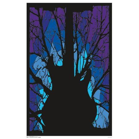 Trends International Woods Guitar Black Light Poster 23