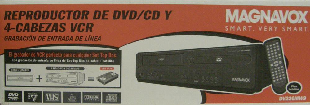 Magnavox DVD Player/Tuner-Free VCR Combo, DV220MW9
